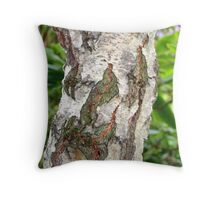 """Birch Bark"" Throw Pillow"