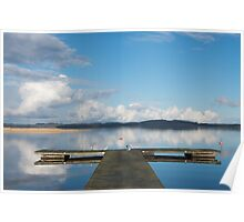 Dock on lake Poster