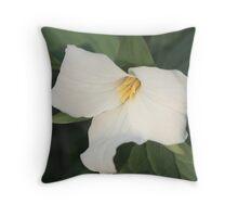 Trillium Bloom Throw Pillow
