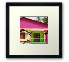 With a paintbrush and a smile Framed Print