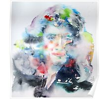 ISAAC NEWTON - watercolor portrait Poster
