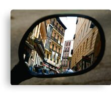REFLECTING ON MADRID Canvas Print