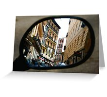 REFLECTING ON MADRID Greeting Card