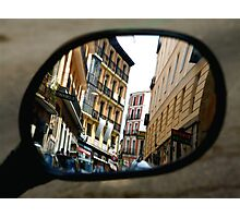 REFLECTING ON MADRID Photographic Print