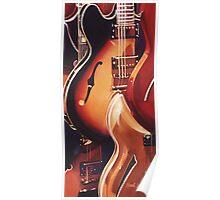 """Steel Strings"" Guitar Watercolor Poster"