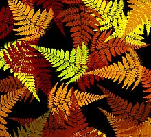 Abstract Fern Leaf Pattern by Christina Rollo
