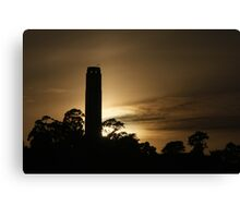 Coit Tower at sunset Canvas Print