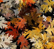 Oak Leaf Abstract by Christina Rollo