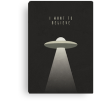 X Files - I Want To Believe (textured) Canvas Print