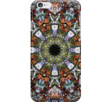 Intricate Colorful Ornate Eastern Influenced Tantric Design Stained Glass Mosaic Rosette Mandala  iPhone Case/Skin