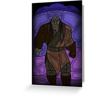 Warlord - stained glass villains Greeting Card