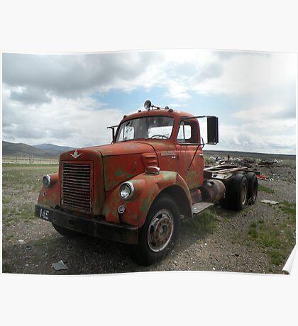 Old vintage truck Poster