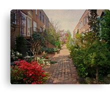 Philadelphia Courtyard - Symphony of Springtime Gardens Canvas Print