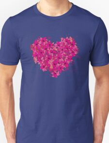 heart made of flowers T-Shirt