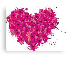 heart made of flowers Canvas Print