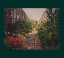 Philadelphia Courtyard - Symphony of Springtime Gardens T-Shirt