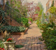 Philadelphia Courtyard - Symphony of Springtime Gardens Sticker