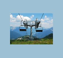 Ski Lift on Monte Zoncolan in Summer  Womens Fitted T-Shirt