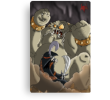 Waking up the cave troll Canvas Print