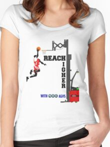 Reach Higher with NDC AGVs Alt 2 Women's Fitted Scoop T-Shirt