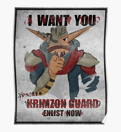 Join the Krimzon Gaurd Poster