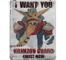 Join the Krimzon Gaurd iPad Case/Skin
