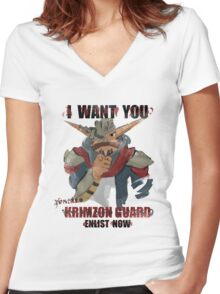Join the Krimzon Gaurd Women's Fitted V-Neck T-Shirt