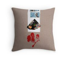 Blau Rot Throw Pillow