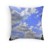 Clouds go forever Throw Pillow