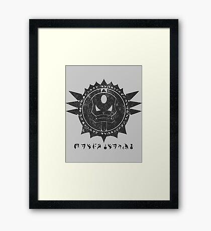 The Barron's order (black) Framed Print