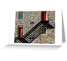 Stone Wall with Shadows Greeting Card