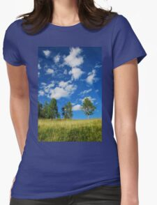 Trees with Cumulus Fractus  Womens Fitted T-Shirt