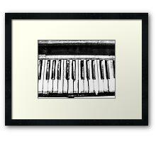 Eerie Piano Keyboard Framed Print