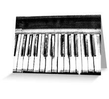 Eerie Piano Keyboard Greeting Card