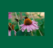 Echinacea Purpurea with Bees  Womens Fitted T-Shirt