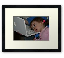 Mac Kid Framed Print