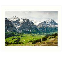 Grindelwald in Spring Art Print