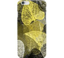 Black And Gold Leaf Abstract iPhone Case/Skin