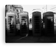 Telephone booths in London Canvas Print