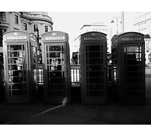 Telephone booths in London Photographic Print