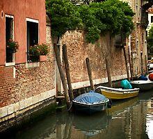 Petites barques en rang d'oignons by Douzy