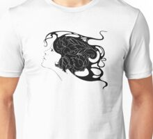beautiful young girl with flowers in hair Unisex T-Shirt