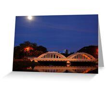 Rainbow Bridge Haleiwa Hawaii night capture Greeting Card