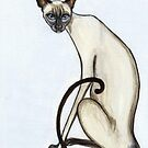 Siamese Cat by Elle J Wilson