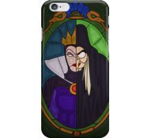 Mirror mirror - stained glass villains iPhone Case/Skin