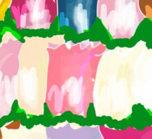 tulips and clouds Sticker