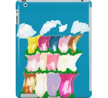 tulips and clouds iPad Case/Skin