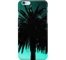 Palm Trees Silhouette - Teal Sunset iPhone Case/Skin