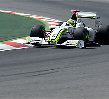 Jenson on the Gas! by Mark Hughes