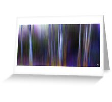 Sunlight in a Blue Wood Greeting Card